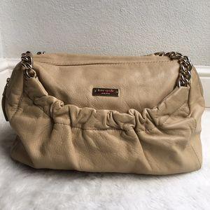 Kate Spade Beige Leather Shoulder Chain Bag